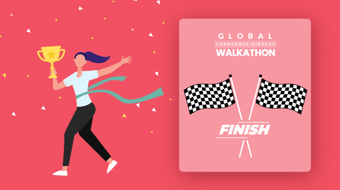 Reaching The Finish Line Of The Global Corporate Walkathon 2021